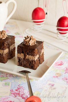 Prajitura cu crema de unt si ciocolata