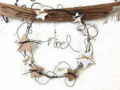 Christmas Makes, Rustic Christmas, Christmas 2019, All Things Christmas, Christmas Home, Christmas Wreaths, Christmas Decorations, Christmas Ornaments, Wire Crafts