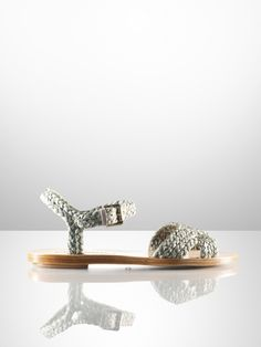 Maralyn Raffia Flat Sandal - Ralph Lauren Collection Collection Shoes - RalphLauren.com