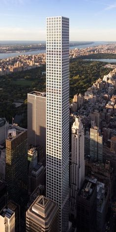 432 Park Avenue marks the world's 100th supertall structure.  It stands 425.5 m (1396 ft), is the tallest residential building in the world and is the 14th overall.  It's NYC's 7th supertall, the city with the second highest number behind Dubai with 18.