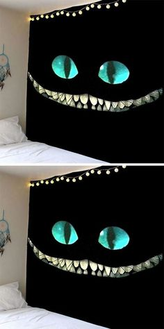 home decor ideas:Horror Smile Face Wall Art Tapestry
