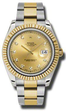 Rolex Datejust Ii Champagne Dial Automatic Stainless Steel And18kt Yellow Gold Mens Watch...perfect V-Day gift for him!