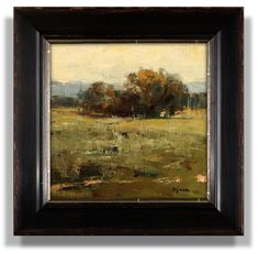 Alone In The Field, 12 x 12 inches, oil on linen $1400 available Sometimes it's not what you paint, but how you paint it. This one started as a study of an oak