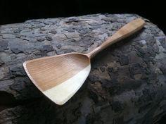 Stir fry spoon wooden spoon wok spoon 12 long by KlipnockyWoodShop