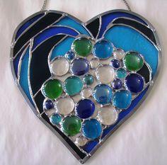 Glass heart sun catcher.