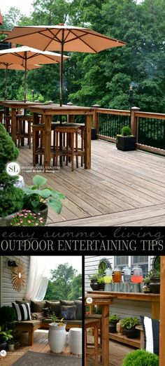 Outdoor Entertaining Tips | Easy Summer Living #summer #party #entertaining #deck