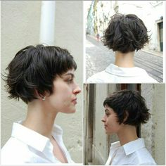 Wip-hairport mini bob - Best Picture For wavy bob hairstyles party Wavy Bob Haircuts, Asymmetrical Bob Haircuts, Medium Thin Hair, Bobs For Thin Hair, Oval Face Hairstyles, Bob Hairstyles For Fine Hair, Shaved Hairstyles, Wavy Hairstyles, Hairstyles 2016