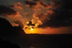 Coucher de soleil à Kauai