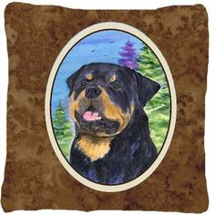 Caroline's Treasures Rottweiler Indoor/Outdoor Throw Pillow