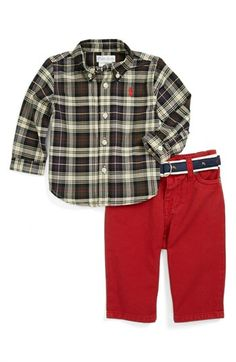 Ralph Lauren Shirt & Jeans Set (Baby Boys) available at #Nordstrom