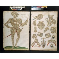 Armour design. This is a design for armour for Sir Christopher Hatton (ca. 1540-91), courtier and politician, and comes from an album of designs known as the Almain Armourer's Album, or Jacob Album. The Album is one of the Victoria and Albert Museum's great Elizabethan treasures. It was compiled between 1557 and 1587 by Master Armourer, Jacob Halder, and records, in vivid detail, notable commissions at the English Royal Armoury in Greenwich during those years