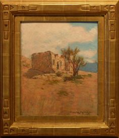 Early California Impressionism | ... , Oil on panel, American Impressionism, Genre, Southwest, American Impressionism, Impressionist, Round Folding Table, Antique Picture Frames, Framing Photography, Southwest Style, Arts And Crafts Movement, Painting Frames, Still Life