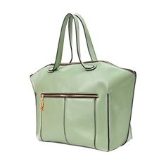 Brief Style Mint-green Handbag ($72) ❤ liked on Polyvore