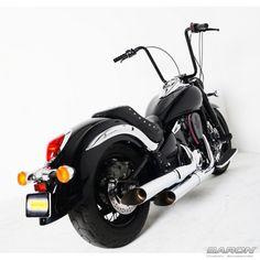 Baron Custom Accessories Hack N Slash Slip-On Exhaust - Kawasaki VN900 Vulcan Classic/ Custom/ LTD (06 and newer)