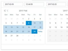 A cross-browser, highly customizable #jQuery date picker plugin that enables the user to select times, dates, months, years and date ranges from a well-designed calendar popup.