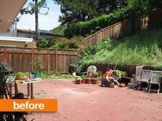 Előtte ilyen volt a kert.... eléggé lehangoló... na de kellett egy kis fa teraszburkolat és pergola....
