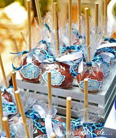 Manzanas decoradas on pinterest candy apples caramel for Bases para mesas chile