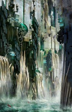 ArtStation - waterfall, Te Hu