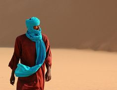 """Tuareg, Sahara desert, North Niger, Africa ~~ """" Adoua, saharan guide and friend....    Tuareg is an Arabic term meaning """"abandoned by God"""". They call themselves """"Imohag"""", translated as """"free men"""".    © Norbert Righetto via Flickr - Photo Sharing!"""