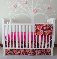 3 Piece Modern Crib Bedding Set Includes Crib Skirt by corasclst, $150.00