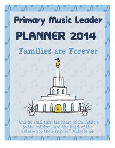 2014 Primary Music Leader Planner Cover Fun