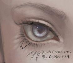 画像 Digital Painting Tutorials, Digital Art Tutorial, Art Tutorials, Palette Art, Poses References, Game Concept Art, Anime Eyes, Eye Art, Art Reference Poses