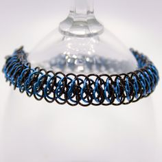 Check out this item in my Etsy shop https://www.etsy.com/listing/494218673/viperscale-chainmaille-bracelet-blue