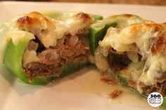 made this last friday, and it was delish! if you don't like the crunchy peppers bake them first.  i followed the recipe spot on, but with mushrooms.  Philly Cheesesteak Stuffed Peppers