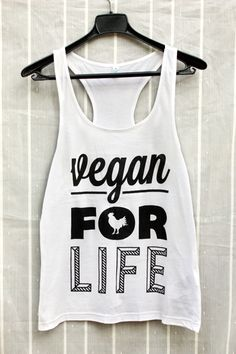 Vegan For Life Organic Women's Tunic T-Shirt - got me a shirt from vegan festival