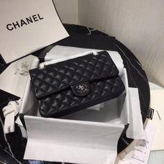 Chanel Caviar Medium Classic Double Flap Bag – black/gold – Famous Last Words Chanel Handbags 2017, Chanel Bags, Coco Chanel, Chanel Quilted Handbag, Classic Handbags, Chain Shoulder Bag, Fashion Bags, Women's Fashion, Crossbody Bag