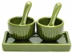 Stoneware SaltPepper Cellar 5pc Set Green-0174-42222 by IWGAC. $10.31. All return claims must be initiated within 15 business days of receipt of the order. Returns for any reason other than damaged or defective will have a 20% restocking fee and return shipping fees will not be refunded. Kitchens Salt & Pepper Sets