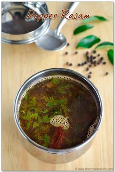 Pepper Rasam, http://www.ninaohmanarts.com/food-and-trade.html