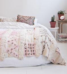Moroccan wedding blanket : Moroccan wedding blanket 4 ''Pink Rose''