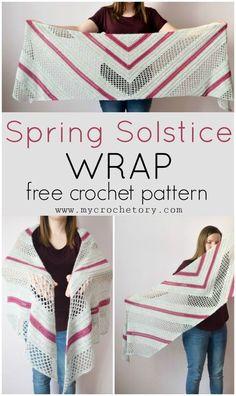 Spring Solstice Wrap - crochet pattern part 1 - MyCrochetory