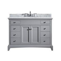 Eviva Elite Stamford 42 Grey Vanity, Size Single Vanities