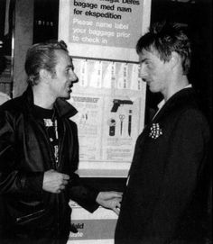 Joe Strummer and Paul Weller, June 1985