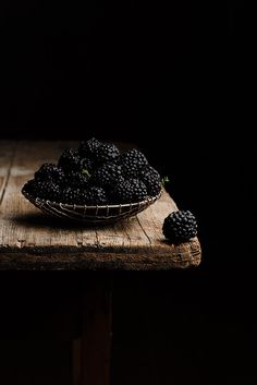 Moody berry food photography.