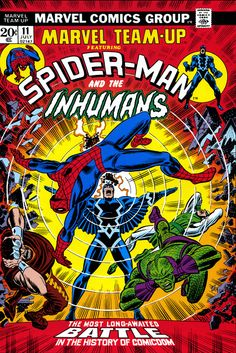 Marvel Team-Up (vol.1 - July 1973) #11 by John Romita featuring Spider-man and the Inhumans