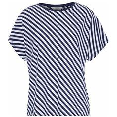 SLEEPY JONES Striped cotton pajama top ($24) ❤ liked on Polyvore featuring intimates, sleepwear, pajamas, cotton pajamas, pajama tops, striped pyjamas, striped pjs and cotton sleep wear