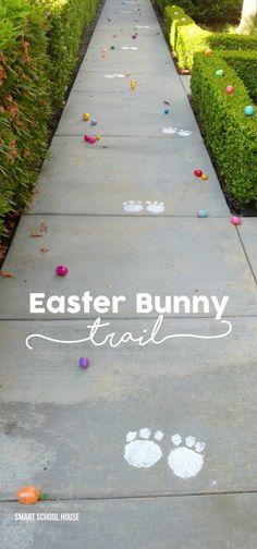 What a cute idea!  An Easter Bunny Trail!