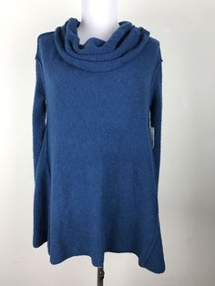 NWT Free People Sweater Size Small Cowl Neck Teal  #FreePeople #CowlNeck