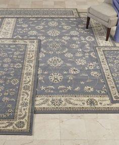 KM Home Florence Collection 4-Pc. set Isfahan Grey/Blue Area Rugs   macys.com