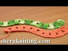 Crochet Curved Cord Square Holes Tutorial 12 Two-Double Crochet Cluster ...