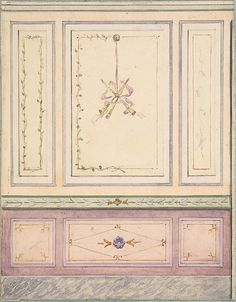 Pompeiian Design for Paneling Jules-Edmond-Charles Lachaise, French