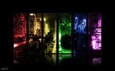 NY in the night color splash wallpaper