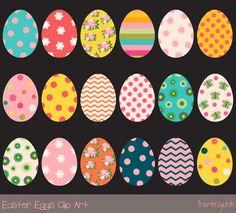 Colorful Easter eggs clip art set by Pravokrugulnik on Easter Craft Activities, Easter Arts And Crafts, Easter Egg Outline, Kawaii, Bunting, Easter Egg Pictures, Easter Backgrounds, Easter Stickers, Image Clipart