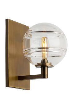 Buy the Tech Lighting Aged Brass / Clear Direct. Shop for the Tech Lighting Aged Brass / Clear Sedona Single Light High LED Wall Sconce with a Glass Globe Shade and save. Led Wall Lights, Wall Sconce Lighting, Wall Sconces, Pendant Lighting, Luminaire Mural, Circa Lighting, Thing 1, Glass Globe, Light Decorations