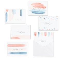 Paint Stripes - Thank You Set. Available at Persnickety Invitation Studio. Thank You Note Cards, Paint Stripes, All Holidays, Wedding Vows, Luxury Gifts, White Envelopes, Baby Clothes Shops, Mother Day Gifts, Wedding Styles