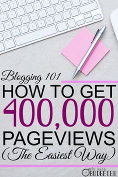 How to get 400,000 pageviews the easiest ways possible. Doing this! I'm sooooo doing this! This is exactly what I need to grow my blog traffic and income,