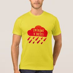 Shop Red cloud and Czech word Zpívání v dešti T-Shirt created by ZierNorShirt. Types Of T Shirts, Foreign Words, Red Cloud, Yellow T Shirt, Singing In The Rain, Funny Tshirts, Polo Ralph Lauren, Clouds, Mens Tops